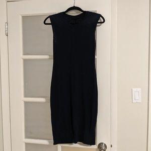 Navy body con dress
